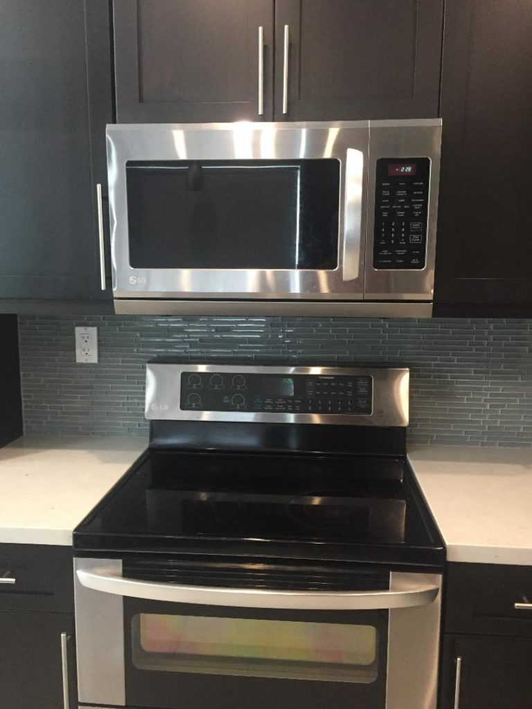 Microwave and Backsplash install