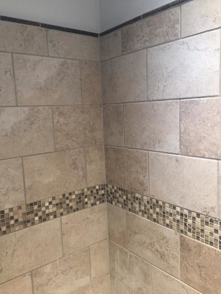 Bathroom shower tile replacement