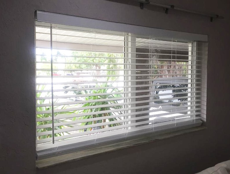 Horizontal blinds installation
