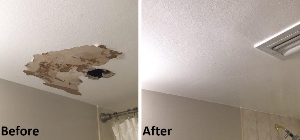 Bathroom Ceiling Drywall Patch