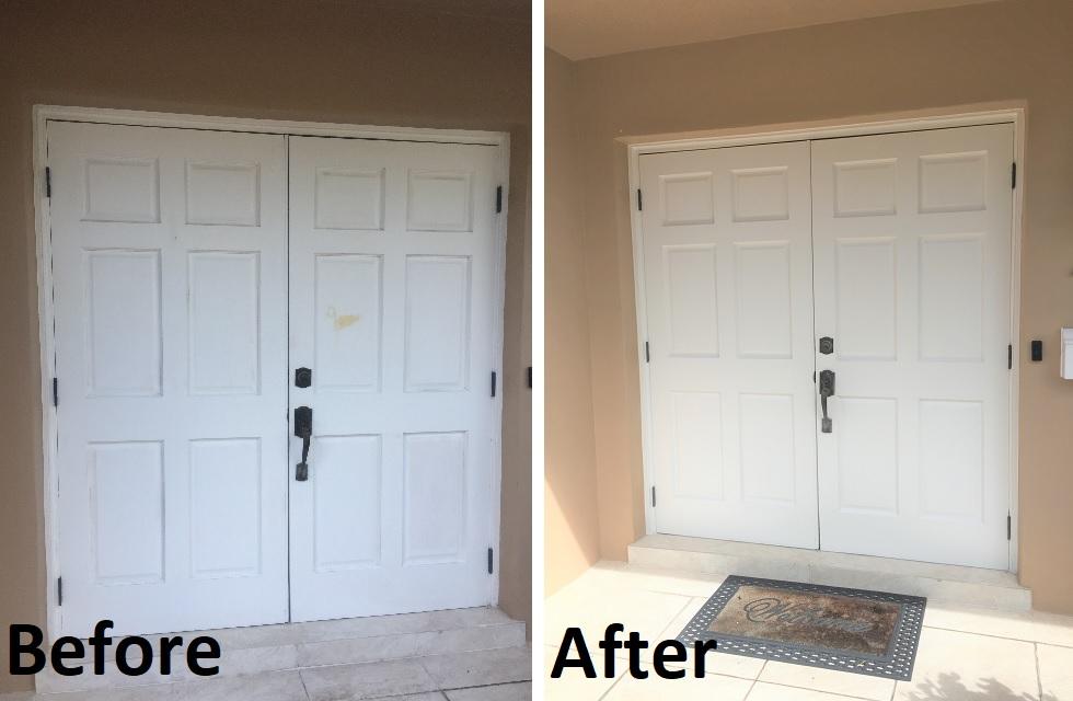 Double door painting