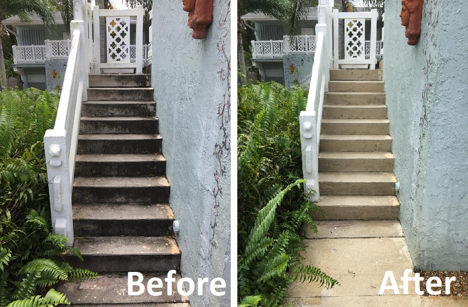 Power Wash Stairs