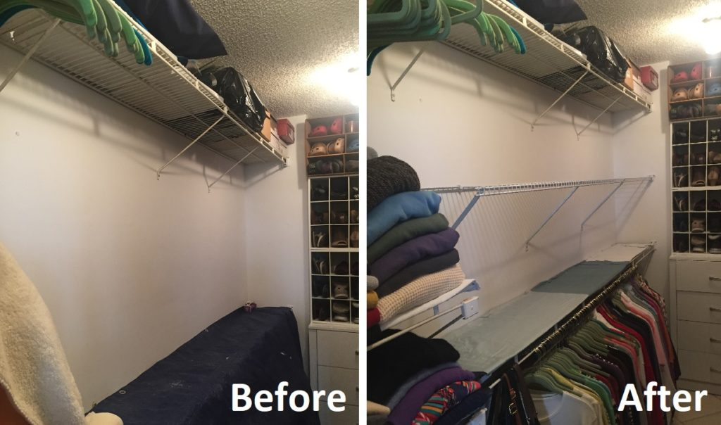 Wire shelf install