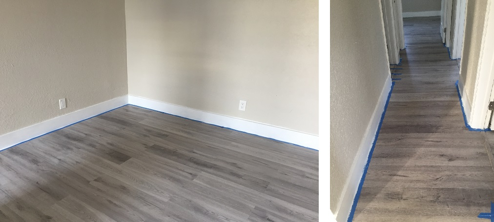 Baseboard install and paint