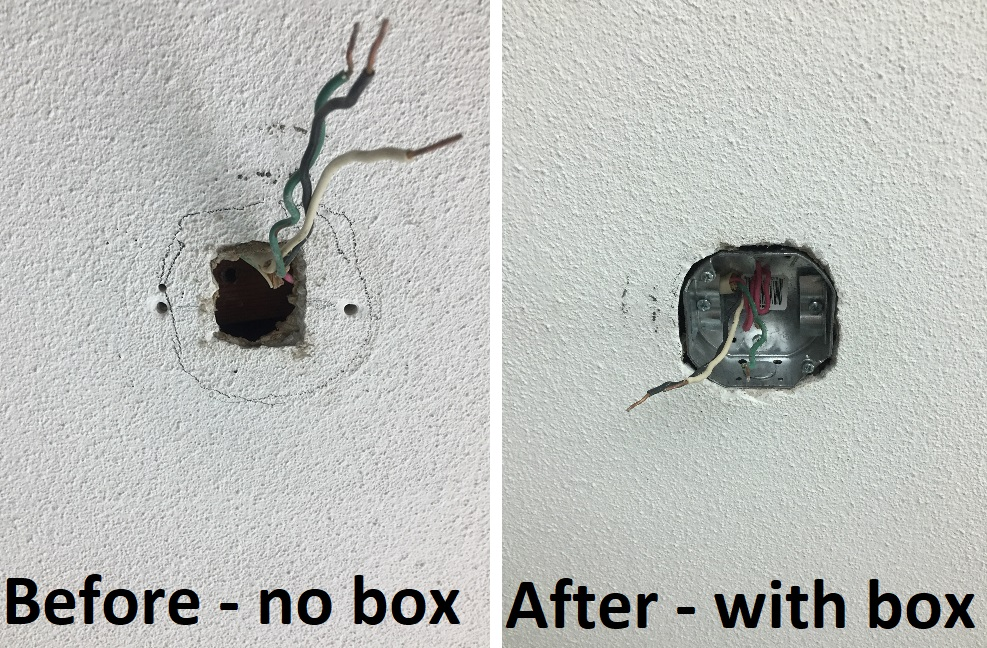 Electrical box installation