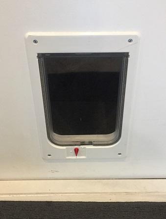 Pet door installation