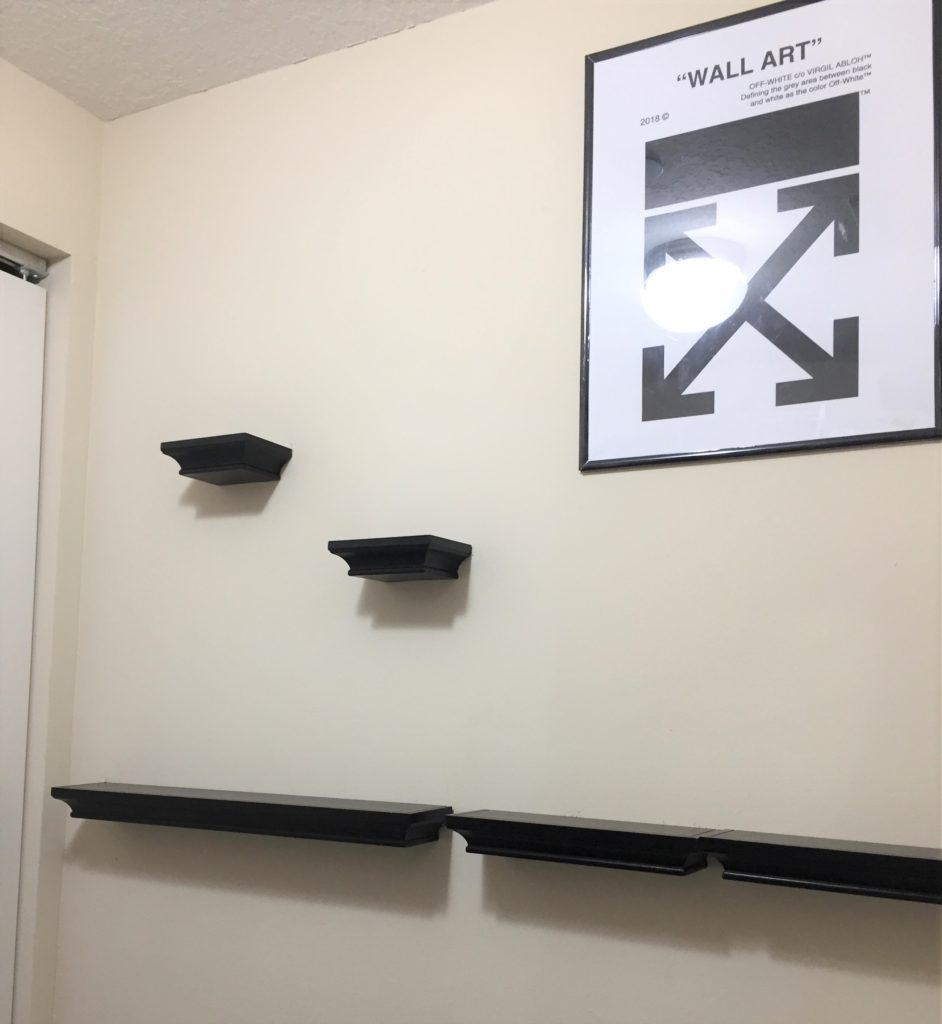 Shelves and picture hanging