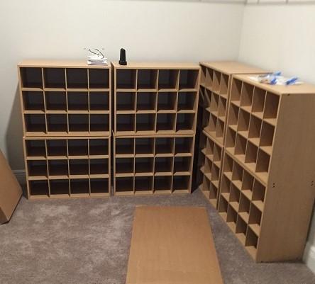 Shoe storage assembly