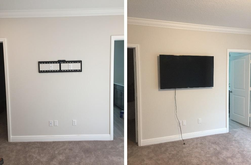 TV wall mounted