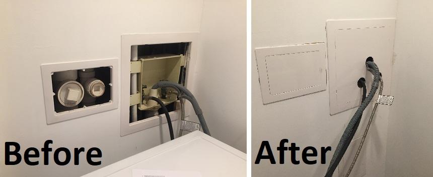 Utility closet panel installs