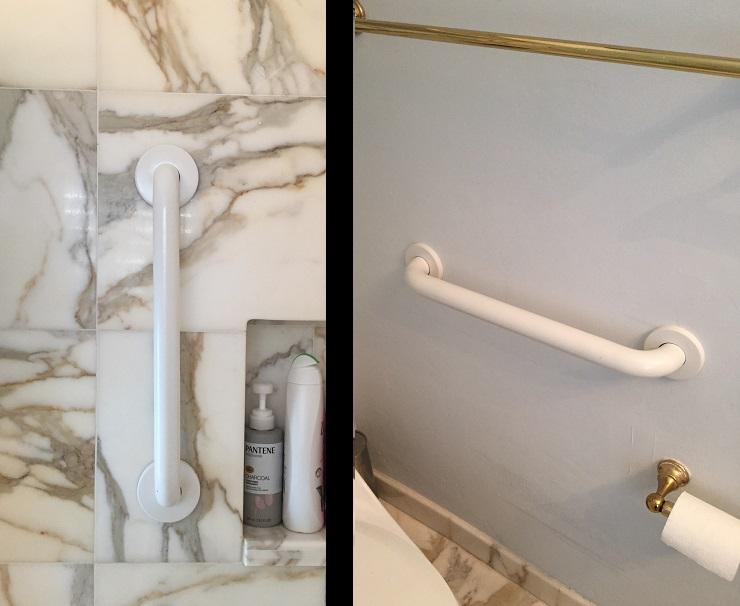 Bathroom grab bars install