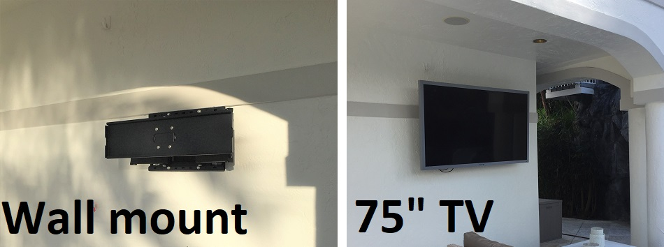 75 inch TV mounting