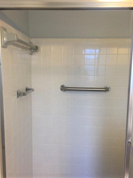 Shower grab bars install