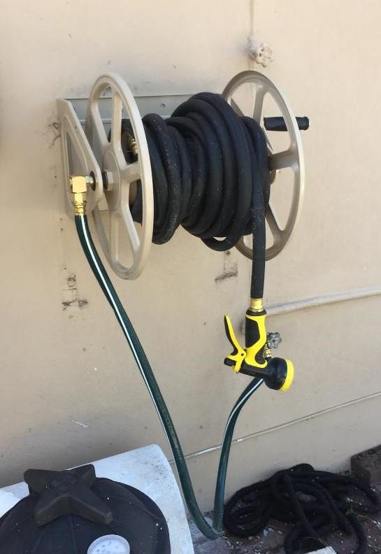Hose reel install