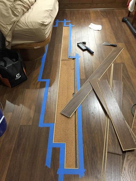 Laminate floor fix