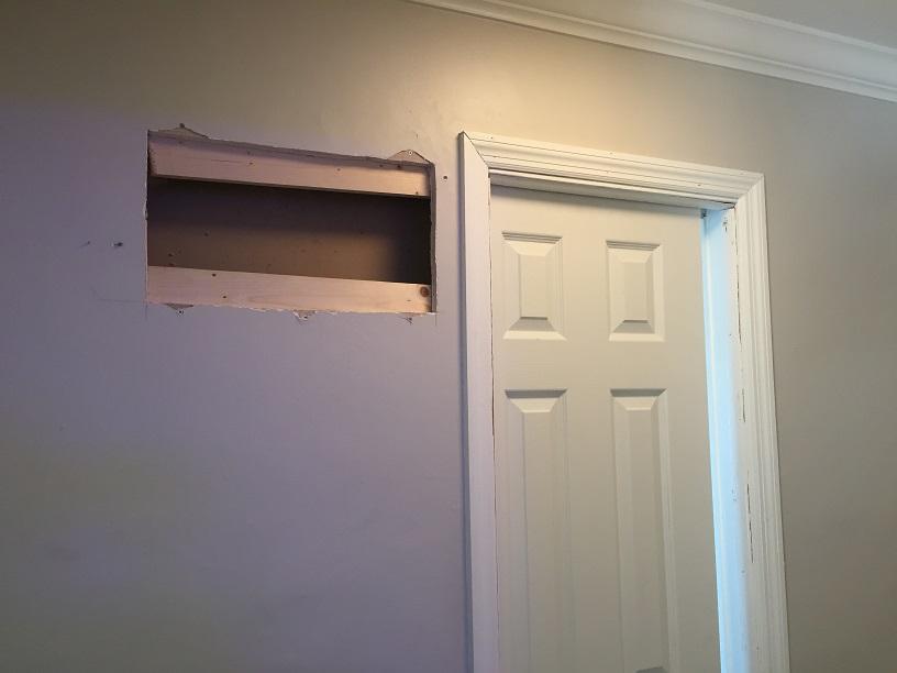 Pocket door replacement underway