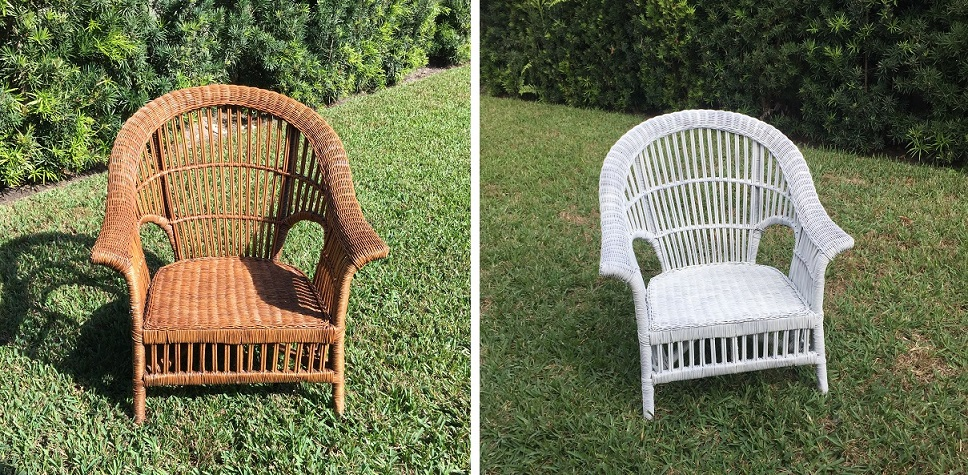 Wicker chair painting