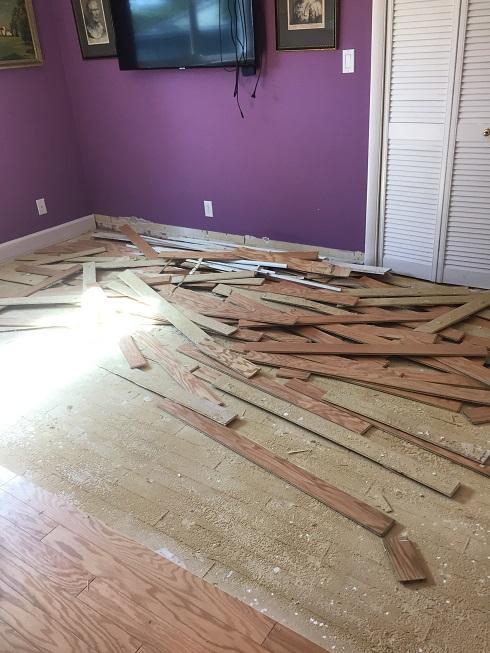 Wood floor demolition