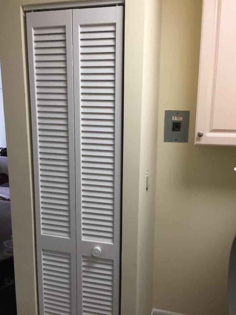 Utility closet refinishing